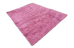 Gruby ciepły dywan shaggy wełna poliester ok 250x350cm różowy Indie