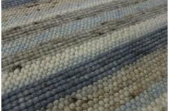Luksusowy dywan Brinker Carpets Greenland zaplatany z wełny filcowanej gładki 170x230cm w pasy