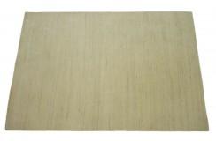 100% welniany ręcznie tkany dywan Nepal Premium beżowy 140x200cm gładki