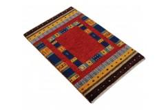 Klorowy delikatnie zdobiony dywan gabbeh loribaft premium 60x90cm wełna