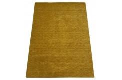 Gładki nowoczesny dywan Gabbeh Handloom Lori 100% wełna żóły pomarańczowy 140x200cm