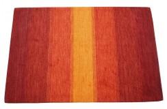 Dywan w pasy czerwony 100% wełna Gabbeh tafting 140x200cm Indie