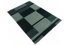 Dywan Gabbeh Handloom Loribaft wełna ciemny zielony geometryczny 120x180cm 100% wełna