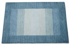 Dywan Gabbeh Handloom Loribaft wełna w pasy niebieski pastelowy 120x180cm 100% wełna
