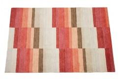 Dywan Gabbeh Handloom Loribaft wełna kolorowy geometryczny 120x180cm 100% wełna