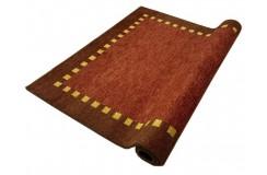 Bordowy delikatnie zdobiony dywan gabbeh 170x240cm wełna argentyńska ręcznie tkany 100% wełna