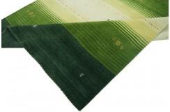 Kolorowy ekskluzywny dywan Gabbeh Loribaft Indie 170x240cm 100% wełniany kolorowy zielony