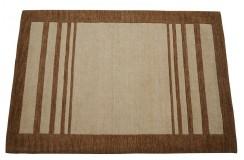Dywan cieniowany brązowy 100% wełna Gabbeh tafting 140x200cm