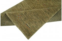 Zielony z deseniem ekskluzywny dywan Gabbeh Loribaft Indie 90x160cm 100% wełniany