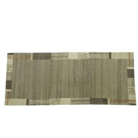 100% welniany ręcznie tkany dywan Nepal Tybet Premium 120x180cm klasyczny szary