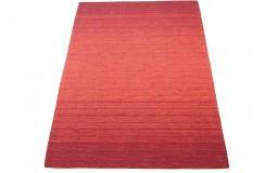 Cieniowany czerwony dywan do salonu 100% wełniany tafting 160x230cm