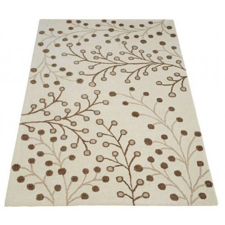 Piękny beżowo-brązowy dywan do salonu 100% wełniany tafting 160x230cm
