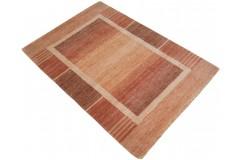 Pomarańczowy czerwony z deseniem ekskluzywny dywan Gabbeh Loribaft Indie 105x155cm 100% wełniany