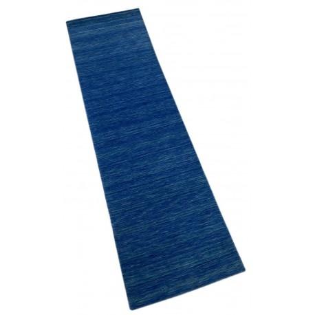 Dywan Gabbeh HANDLOOM gładki niebieski miękki chodnik 90x300cm (Indie)