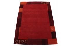 100% welniany dywan Nepal tafting kasztanowy 140x200cm nowoczesny do salonu