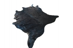 Dywan południowoamerykańska naturalna skóra bycza XL - bydlęca UNIKAT czarna brązowa 205x205cm