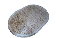 Piękny owalny dywan Aubusson Habei ręcznie tkany z Chin ok 2x3m 100% wełna przycinany rzeźbiony