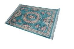 Piękny dywan Aubusson Habei ręcznie tkany z Chin 120x180cm 100% wełna przycinany rzeźbiony królewski zielony