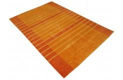 Pomarańczowy ekskluzywny dywan Gabbeh Loribaft Indie 160x230cm 100% wełniany