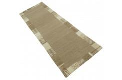 100% welniany ręcznie tkany dywan Nepal Tybet Premium 80x250cm klasyczny brązowy chodnik