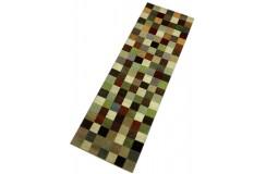 Kolorowy dywan gabbeh 85x255cm wełna argentyńska ręcznie tkany chodnik