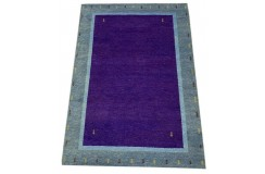 Kolorowy fioletowy gruby dywan gabbeh 170x240cm wełna argentyńska ręcznie tkany