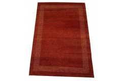 Czerwony gruby dywan gabbeh 170x240cm wełna argentyńska ręcznie tkany