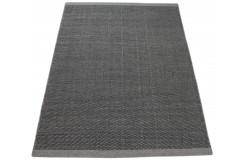 Szary kilim nowoczesny durry 100% wełniany dywan płasko tkany 160x230cm dwustronny Indie