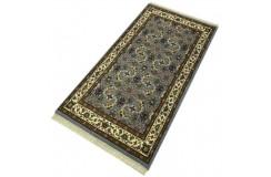 Wełniany ręcznie tkany dywan Herati z Indii 90x160cm orientalny szary