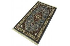 Wełniany ręcznie tkany dywan Herati Bidjar  z Indii 90x160cm orientalny szary