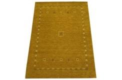 Żółty ekskluzywny dywan Gabbeh Loribaft Indie 170x240cm 100% wełniany