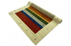 Kolorowy ekskluzywny dywan Gabbeh Loribaft Indie 180x240cm 100% wełniany