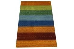 Kolorowy gruby dywan gabbeh 170x240cm wełna argentyńska ręcznie tkany