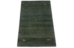 Zielony gruby dywan gabbeh 170x240cm wełna argentyńska ręcznie tkany