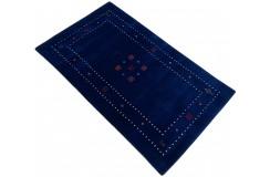 Granatowy ekskluzywny dywan Gabbeh Loribaft Indie 90x150cm 100% wełniany