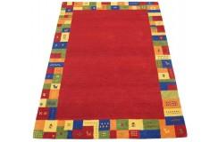 Nowoczesny czerwony dywan do salonu 100% wełniany tafting 160x230cm