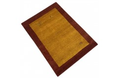 Pomarańczowy gruby dywan gabbeh 170x240cm wełna argentyńska ręcznie tkany