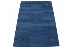 Niebieski ekskluzywny dywan Gabbeh Loribaft Indie 170x240cm 100% wełniany