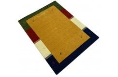 Kolorowy żółty ekskluzywny dywan Gabbeh Loribaft Indie 170x240cm 100% wełniany