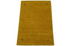 Gładki dywan Gabbeh Handloom Lori wełna żółty 120x180cm