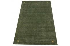 Zielony ekskluzywny dywan Gabbeh Loribaft Indie 170x240cm 100% wełniany