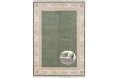 Luksusowy dywan Wissenbach z Nepalu Classica Romantico 295 gruen 250x350cm tradycyjny ręcznie tkany dywan