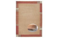 Welniany ręcznie tkany dywan Nepal Premium Wissenbach Manali 101 terra 265x310cm
