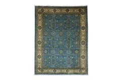 Dywan Ziegler Farahan Klassik 100% wełna kamienowana ręcznie tkany luksusowy ok250x350cm klasyczny niebieski