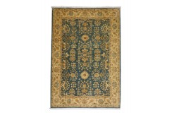 Dywan Ziegler Farahan Klassik 100% wełna kamienowana ręcznie tkany luksusowy ok 200x300cm klasyczny niebieski