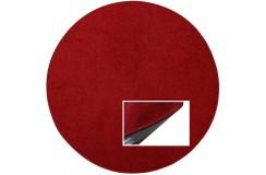 Gładki czerwony dywan 100% wełniany, okrągły średnica 125cm Indie