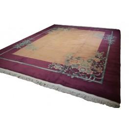 NAJWIĘKSZY dywan Aubusson ręcznie tkany z Chin 370x450cm 100kg wełny OKAZ