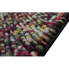 Ciepły genialny wełniany dywan 140x200cm Brinker Carpets Loop kulki z wełny filcowanej