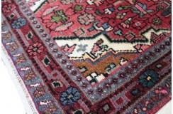 Klasyczny czerwony chodnik Hamadan z kwiatowym perskim wzorem, podszyty skórą, CERTYFIKAT 79x279cm