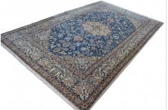 Nain 6la gęsto ręcznie tkany z Iranu wełna + jedwab motywy zwierzęce ok 2x3m